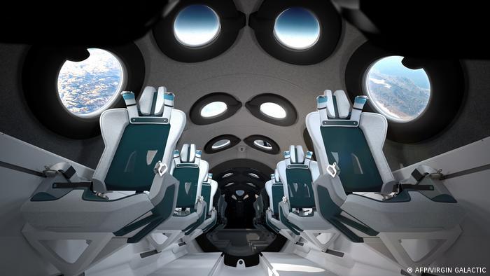 Foto del diseño interno del cohete de Virgin Galactic