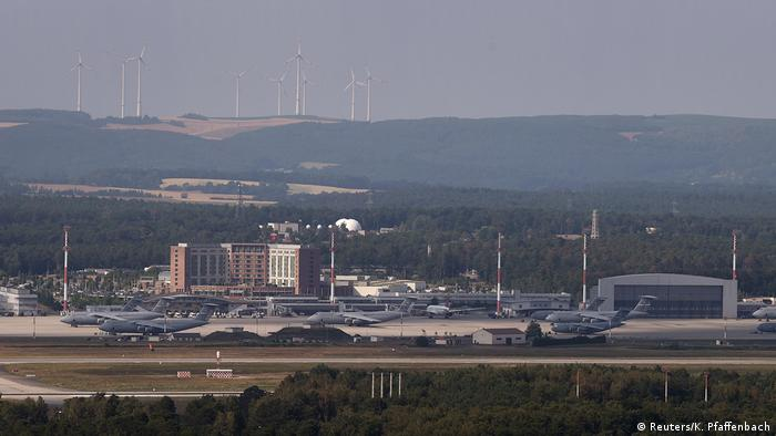 A general View shows the US military airbase in Ramstein near Landstuhl, Germany