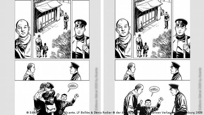 Illustrationen aus dem Buch Die Bombe (© Editions Glénat 2020 by Alcante, LF Bollée & Denis Rodier © der deutschen Ausgabe Carlsen Verlag GmbH, Hamburg 2020)