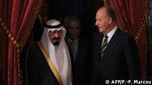 Spanien König Juan Carlos und König Abdullah Bin Abdelaziz Al Saud aus Saudi-Arabien