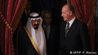 Хуан Карлос и король Саудовской Аравии Абдалла ибн Абдул-Азиз Аль Сауд на встрече в Мадриде в июле 2008 года