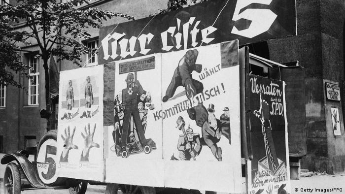 Plakat komunista u predizbornoj kampanji 1928.