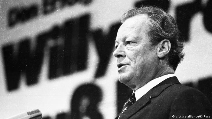 Willy Brandt na zjeździe SPD w 1972 roku