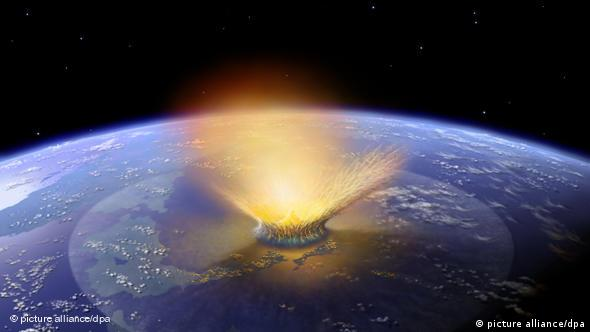 An asteroid that hit the Earth more than 65 million years ago is responsible for the end of the dinasaur era(Coyright: dpa)