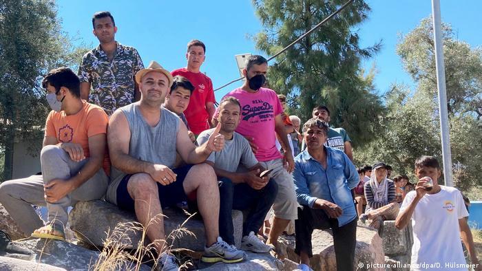 Griechenland   Ministerpräsident Laschet besucht das Flüchtlingslager Kara Tepe