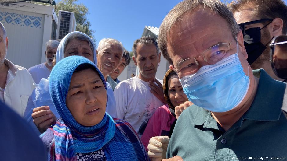 Germany: Armin Laschet halts Moria refugee camp visit amid security alert