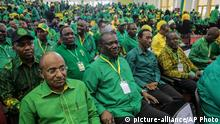 Party members attend the national congress of the ruling Chama cha Mapinduzi (CCM) party in Dodoma, Tanzania Saturday, July 11, 2020. Tanzania's ruling party on Saturday nominated President John Magufuli to run for a second five-year term, while opposition parties and human rights groups demand an independent electoral body to oversee the October vote. (AP Photo)