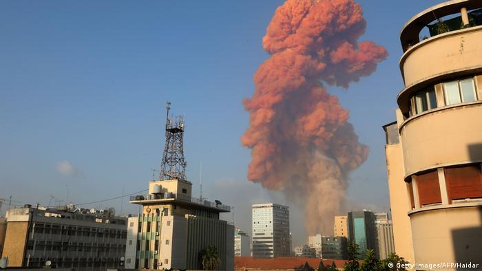 Libanon | Gewaltige Explosion in Beirut (Getty Images/AFP/Haidar)
