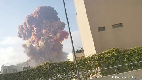 Libanon | Gewaltige Explosion in Beirut (Reuters/K. Sokhn)
