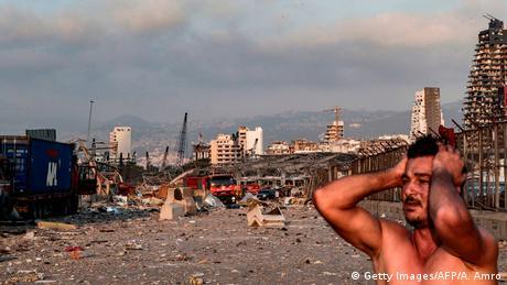 Libanon | Gewaltige Explosion in Beirut (Getty Images/AFP/A. Amro)