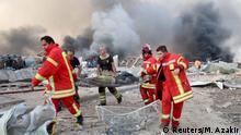 Libanon | Gewaltige Explosion in Beirut: Mann wird evakuiert