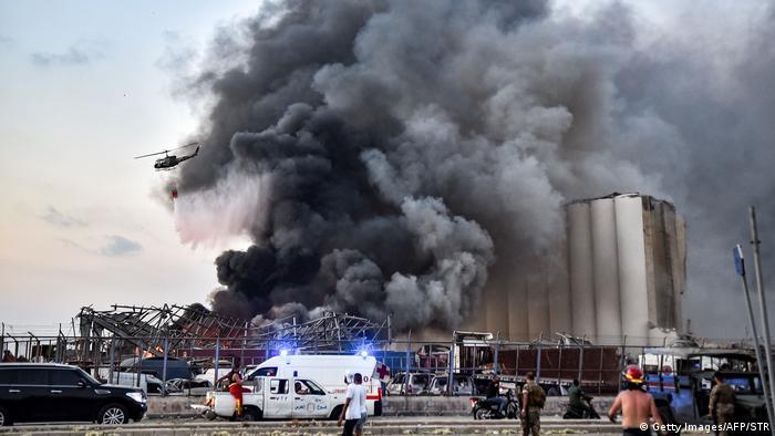نیروهای امدادی کوشیدند با هلیکوپتر آتش را مهار کنند. به گفته شاهدان عینی، هلیکوپترهای آتشنشانی برای مهار حریق ساعتها در محل حادثه حضور داشتند.