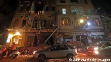This picture taken on August 4, 2020 shows a general view of destruction along a street in the centre of Lebanon's capital Beirut, following a massive explosion at the nearby port of Beirut.(AFP via Getty Images)