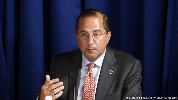US-Gesundheitsminister Alex Azar (Foto: picture-alliance/AP Photo/P. Semansky)