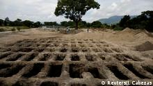 Graves dug in El Salvador for victims of the coronavirus