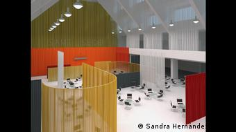 A digital reconstruction of the Café Samt und Seide in Berlin
