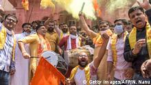 Indien Ayodhya - Grundsteinlegung für einen Hindu-Tempel durch Premierminister Modi