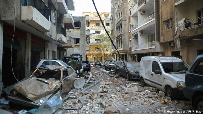 Libanon Explosion in Beirut (Getty Images/AFP/P. Baz)