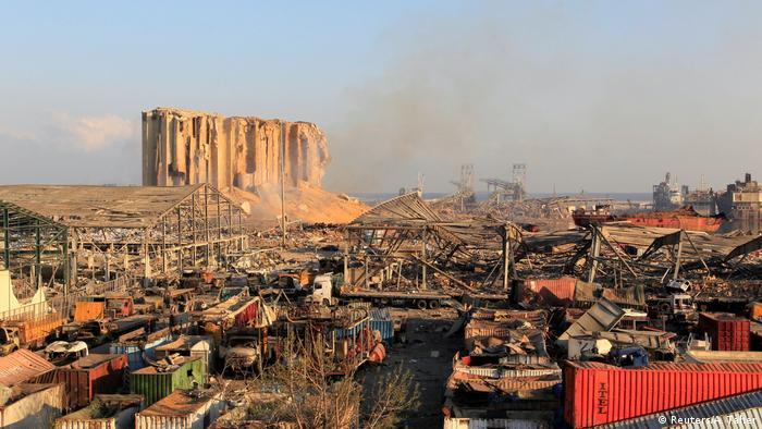 Libanon | Gewaltige Explosion in Beirut (Reuters/A. Taher)