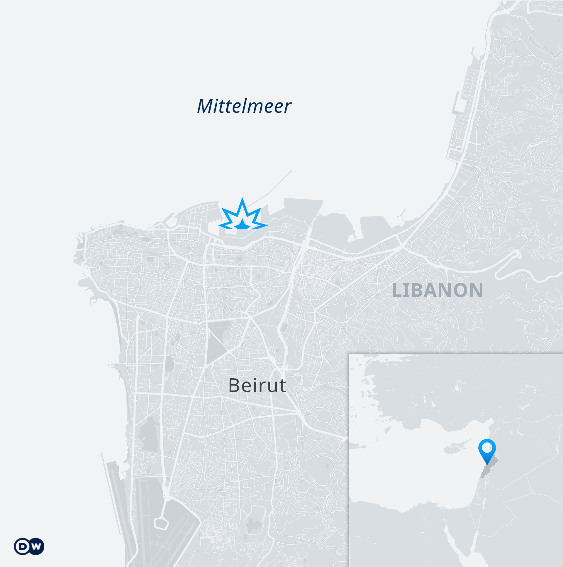 Karte Beirut Explosion DE