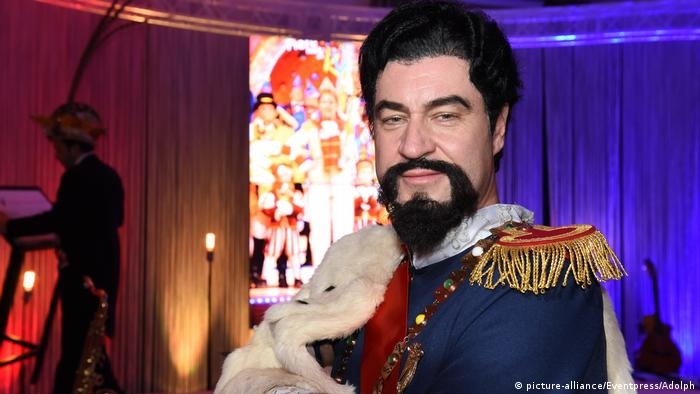 Markus Söder dressed up as Bavaria's King Ludwig II