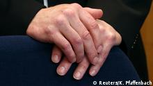 The hands of Stephan E., who is accused of murdering politician Walter Lübcke