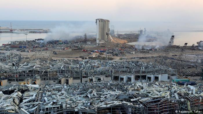 Damages of Tuesday's blast in Beirut's northern port