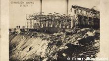 Deutschland Oppau Ludwigshafen am Rhein | Gebäude nach der Explosion 1921