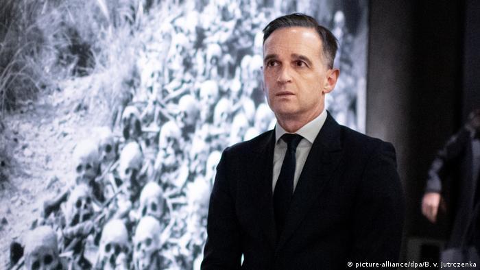 German Foreign Minister Heiko maas at the Hiroshima Peace Memorial Museum (picture-alliance/dpa/B. v. Jutrczenka)