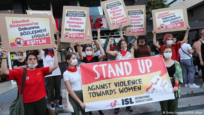 Διαδήλωση κατά της βίας με θύματα γυναίκες, Κων/πολη 2020