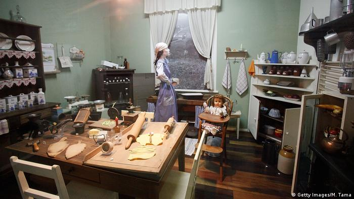 A typical kitchen from an early 20th century immigrant home is displayed in a museum in Blumenau, Brazil (Getty Images/M. Tama)
