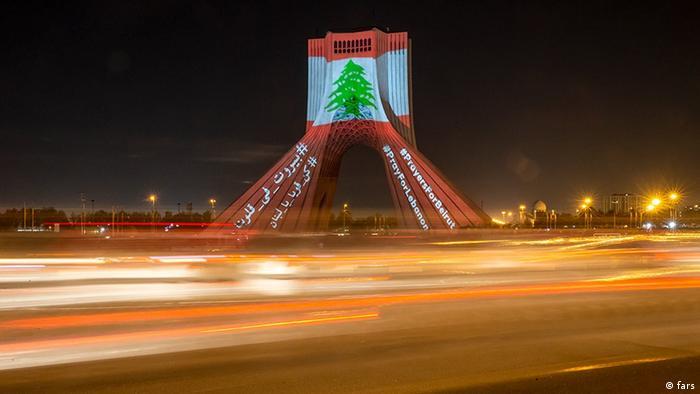 Iran Teherans Mitgefühl mit den Opfern der Explosionen in Beirut