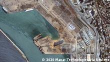 Libanon | Satellitenbild Beirut nach der Explosion