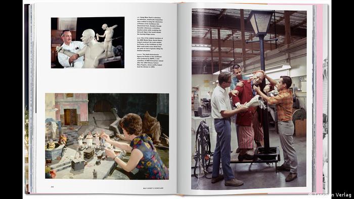 Fotos aus den Disney-Werkstätten mit Handwerkern und Figuren, Foto: (Taschen Verlag)