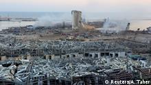 Libanon Beirut Ausmaß der Zerstörungen nach Explosion im Hafenviertel