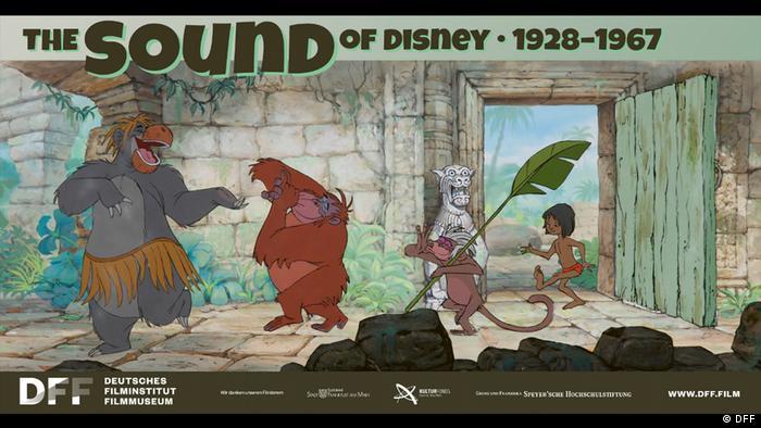 Zeichentrickszene aus dem Dschungelbuch mit tanzenden Tieren, Bild: Deutsches Filminstitut & Filmmuseum (DFF)