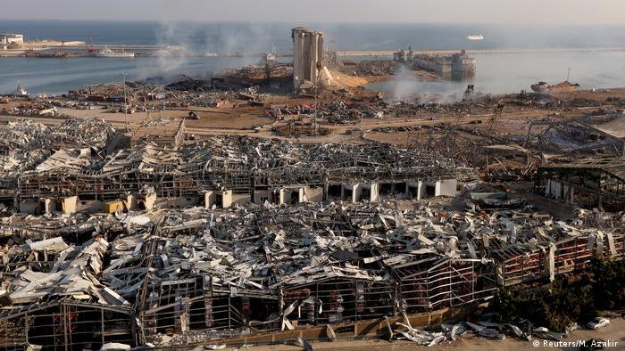 Бейрут след експлозията