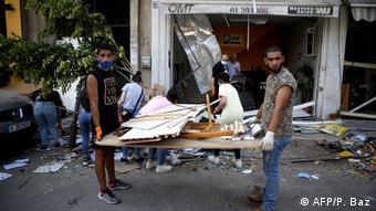Libanon Beirut nach Explosion im Hafenviertel