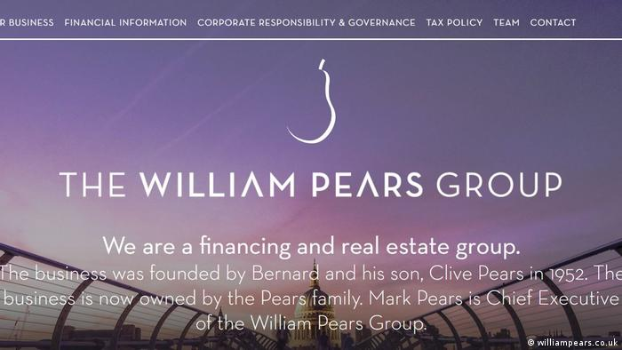 A screenshot from the website of the William Pears Group, the multi-billion euro property company which owns the building in which Syndikat operates.