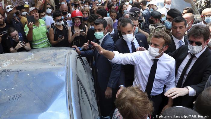 سفر امانوئل مکرون به بیروت، پنجشنبه ششم اوت ۲۰۲۰