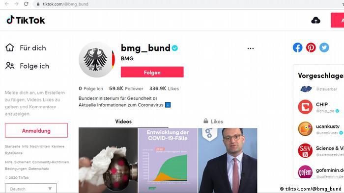 Screenshot Tiktok-Account Bundesgesundheitsministerium (tiktok.com/@bmg_bund)