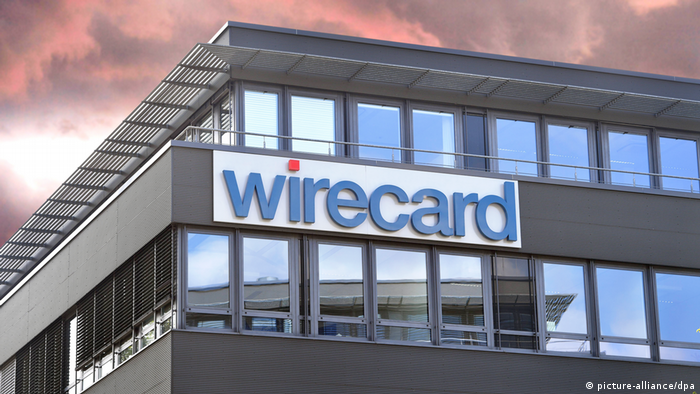 Wirecard logo on a side of a building