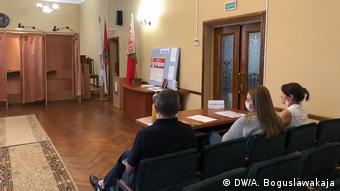 Три наблюдателя на избирательном участке