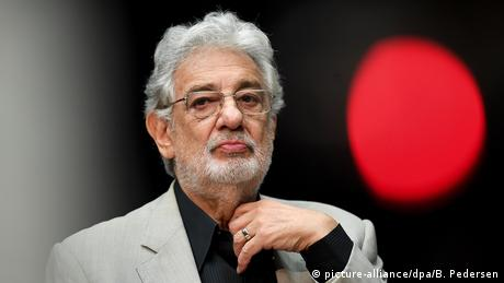 Placido Domingo at a press conference