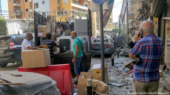 Libanon nach Explosion in Beirut (picture-alliance/dpa/M. Naamani)