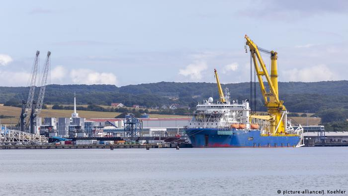 The port of Mukran Nord Stream 2 (picture-alliance/J. Koehler)