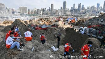 Εικόνα από το λιμάνι της Βηρυτού μετά την καταστροφή