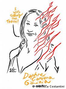 Gianluca Costantini: ermordete Journalistin, Daphne Caruna Galizia, Malta