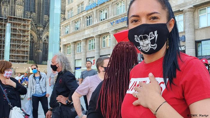 Sexworker Elena at the demonstration in Cologne