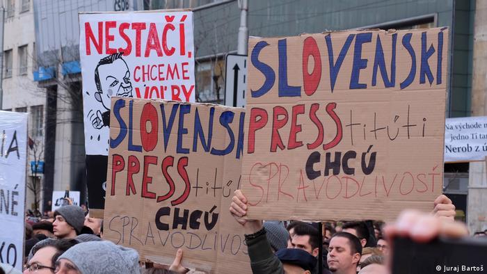 Protest in Bratislava for media freedom